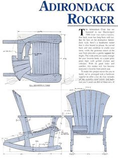 #1860 Adirondack Rocking Chair Plans - Outdoor Furniture Plans #WoodworkingPlansAdirondack