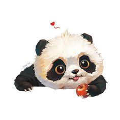 【Customization panda who loves to eat apple. on Behance 【Customization panda who loves to eat apple. on Behance Cute Panda Drawing, Cute Animal Drawings, Cute Drawings, Cute Panda Cartoon, Cute Panda Wallpaper, Cartoon Wallpaper, Panda Wallpapers, Cute Wallpapers, Panda Painting