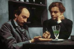 """Total Eclipse"" (1995) >> Leonardo DiCaprio & David Thewlis ... #Absinthe; #TheGreenFairy"