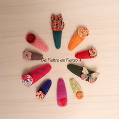 De Fieltro en Fieltro: PINZAS DE PELO FORRADAS CON FIELTRO Diy, Hand Stitching, Felting, Hair, Manualidades, Bricolage, Diys, Handyman Projects, Do It Yourself