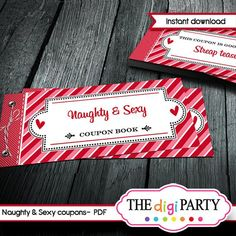 valentines day naughty coupon book