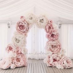 61 Ideas wedding arch flowers diy bridal shower for 2019 Arch Flowers, Giant Flowers, Flower Backdrop, Flower Wall, Floral Wedding, Diy Wedding, Wedding Flowers, Wedding Photos, Dream Wedding