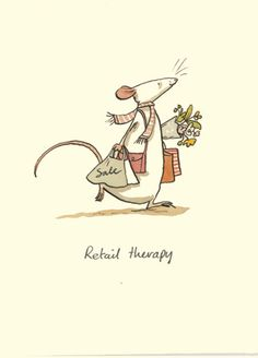 M83 RETAIL THERAPY  a Two Bad Mice card by anita Jeram
