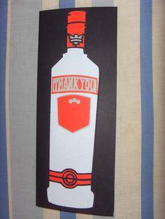Vodka bottle Thank you card