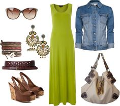 """""""Brown, Green, Blue"""" by thegiftedbee on Polyvore"""