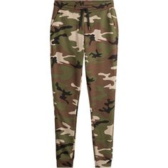 Zoe Karssen Cotton-Blend Camouflage Pants found on Polyvore featuring pants, green, camoflauge pants, brown skinny pants, slim fit pants, camouflage skinny pants and green pants