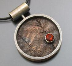 bronze fern – roundsterling silver, bronze and madeira citrine