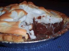 Chocolate Pie - Ingredients:  1 c sugar  1/2 c flour  1/4 tsp salt  3 c milk  1/2 c cocoa  3 egg yolks, slightly beaten  2 Tbsp butter  1 tsp Vanilla  1 baked pie shell    How to make it :  Mix sugar, flour, salt, and cocoa in top of double …