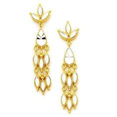 Dangle Earrings, Chandelier Earrings, Gold Earrings, Drop Earrings, Fashion Earrings, Marque Earrings