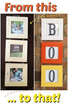Easy DIY candy corn Halloween boo sign #craft #halloween or you do this for chritmas with JOY in christmas colors :)