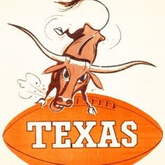 Football Art, Vintage Football, Sports Logos, Sports Art, Christmas Gifts For Sports Fans, Man Cave Wall Art, Cool Fathers Day Gifts, Texas Longhorns, Art Posters