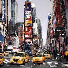 Street Painting, City Painting, Nyc Drawing, Sketchbook Layout, Caleb, City Sketch, Urban Painting, New York City Photos, Dental Art