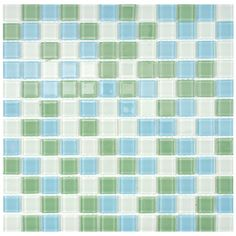 SomerTile 12x12-in View Square 1-in Fresh Glass Mosaic Tile (Case of 20) | Overstock.com Shopping - Big Discounts on Somertile Wall Tiles