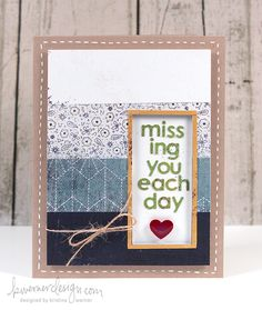 Missing You Each Day Card, by Kristina Werner, kwernerdesign.com