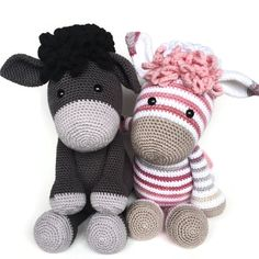 NOTE! This is a crochet pattern, NOT a finished product!  ✉ Sending: This pattern is a PDF file. Youll receive an email within 5 minutes after payment, with a link to download the pattern. You can also always download the pattern from the purchases and reviews section on your profile.  The Zoe zebra pattern is a color variation on the pattern of donkey Alex. If you buy the pattern for Zoe zebra, you receive the base pattern for donkey Alex for free.  The pattern for donkey Alex consists of a…
