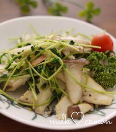 eringi & lemon with greens