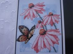 Handmade Unframed Butterfly and Blossoms by CustomCraftJewelry