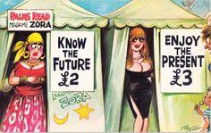 British Postcard Humor at its best Adult Dirty Jokes, Adult Humor, Funny Postcards, Vintage Postcards, Funny Cartoon Pictures, Best Funny Pictures, Funny Cartoons, Funny Comics, Twisted Humor