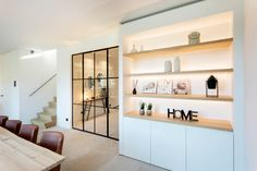 Living Room Built Ins, Home Living Room, Living Room Designs, House Extension Design, Interior Architecture, Interior Design, Love Your Home, Built In Shelves, House Layouts