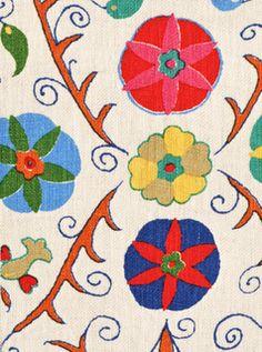 Kathryn Ireland Safi Suzani fabric (In Fiesta)