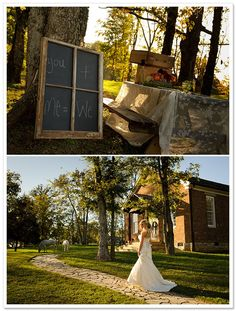 Romantic reception in picnic style. Don't miss the fairytale white horses in the background! Oh my gosh!!! I want a white horse!!!