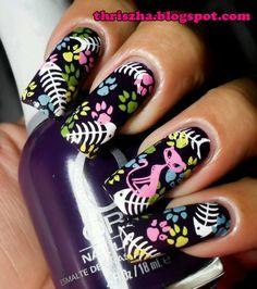 Top 10 craziest nail photos pretty nails,pretty me Cat Nail Art, Animal Nail Art, Cat Nails, Nail Polish Designs, Acrylic Nail Designs, Nail Art Designs, Nails Design, Spring Decoration, Mirror Nails