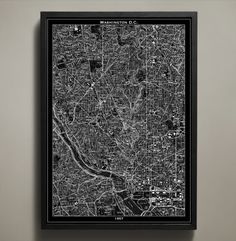 Map Print, WASHINGTON DC