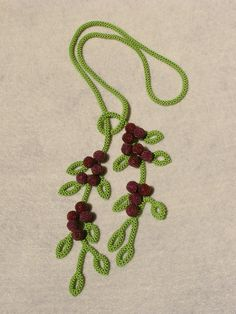 Berry Blissful Lariat by Beadhisattva on Etsy