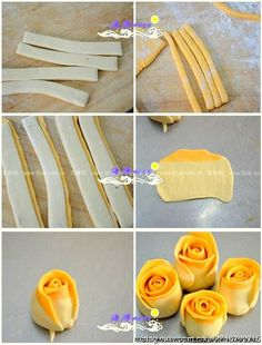 7 (531x700, 286Kb) Sweet Pastries, Bread And Pastries, Chinese Cake, Pie Crust Designs, Fairy Food, Bread Shaping, Bread Art, Steamed Cake, Food T