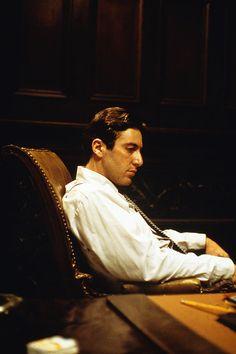 Michael Corleone (Al Pacino) - The Godfather 2 Al Pacino, Marlon Brando, Diane Keaton, The Godfather, Great Films, Good Movies, Mafia, Shire, Don Corleone