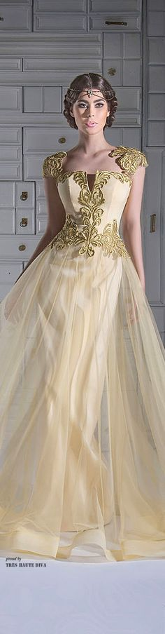 i actually like the headpiece more than anything. That's really my only interest in the picture :P (Chrystelle Atallah Spring/Summer Designer Evening Gowns, Designer Gowns, Evening Dresses, Gowns Of Elegance, Beautiful Gowns, Couture Fashion, Nice Dresses, Dresses 2014, Ball Gowns