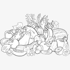 Fruit Coloring Pages Vegetable Coloring Pages Printable Coloring Apple Coloring Pages, Vegetable Coloring Pages, Preschool Coloring Pages, Colouring Pages, Printable Coloring Pages, Coloring Pages For Kids, Coloring Sheets, Adult Coloring, Coloring Books
