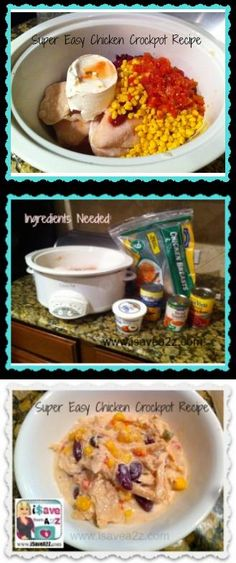 *No Prep Chicken Crockpot Recipe!  This one is creamy and delicious!!!