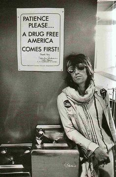 Keith Richards at customs in Seattle, 1972. | Bazooka Joe