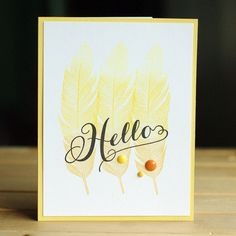 TO THE FULL: Muse Challenge #121 Leigh Penner made this gorgeous card with WMS Fine Feathers.