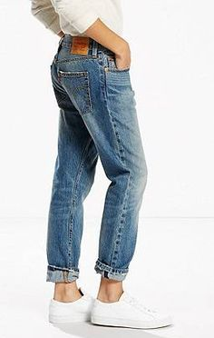 ced45253662 Levi's 501 CT Jeans for Women in Route 66 Selvedge $128 Minimalist  Wardrobe, Boyfriend Jeans