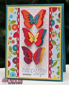 Card with Butterflies, Stampin' Up!