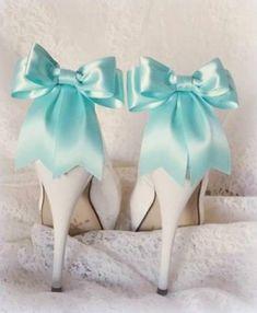 Aqua Blue Shoe Clips Wedding Shoe Clips Bridal by ShoeClipsOnly Wedding Hair Fascinator, Flower Headpiece Wedding, Bridal Wedding Shoes, Wedding Hair Clips, Bow Wedding, Wedding Colors, Dream Wedding, Rhinestone Shoes, Decorated Shoes