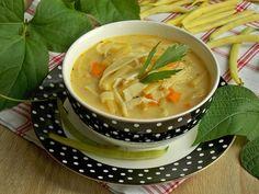 Serowa zupa z fasolką szparagową i makaronem | KuchniaMniam Ethnic Recipes, Food, Essen, Meals, Yemek, Eten