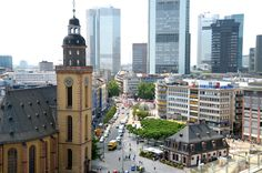 Frankfurt Main, Konstabler Wache, historic and modern elements, GER.