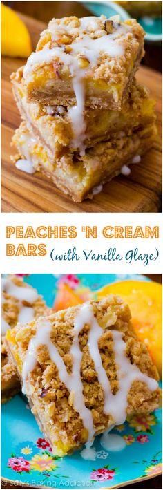 An easy recipe for Peaches 'n Cream Bars.
