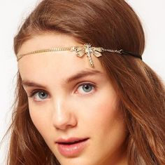 Butterfly elactic hair with rhinestone