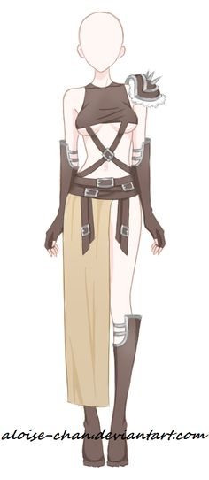 [SOLD] Desert Traveler Armour Adoptable by Aloise-chan.deviantart.com on @DeviantArt