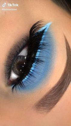 Clown Makeup Tutorial, Makeup Looks Tutorial, Smokey Eye Makeup Tutorial, Eye Makeup Steps, Makeup Eye Looks, Eye Makeup Art, Eyebrow Makeup, Skin Makeup, Blue Eyeshadow Makeup