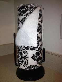 9 Unpaper Towels Kitchen Black and White Damask by cupcakecovers, $38