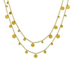 Marie-Helene de Taillac | Long Dangling Multi-Sequin Necklace in Occasion When Price is Not an Issue at TWISTonline