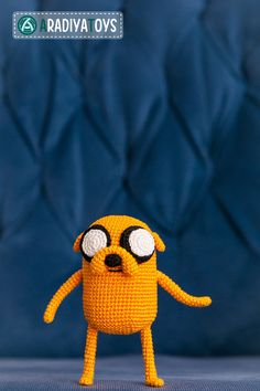 Crochet Pattern of Jake from Adventure Time Amigurumi by Aradiya