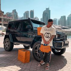 After shopping in Black Mercedes Benz, Old Mercedes, Gucci, Mercedes Convertible, Mercedes Benz Classes, Dope Outfits For Guys, Urban Fashion, Mens Fashion, Girls Diary