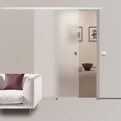 Soft Stop Glasschiebetür Glas Schiebetür satiniert blickdicht 900x2050mm BS-900D in Heimwerker, Fenster, Türen & Treppen, Türen | eBay!