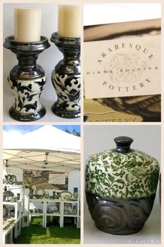 Beautiful pottery by Diane Sullivan  http://www.dianesullivan.ca/  #pottery #farmersmarket #homedecor